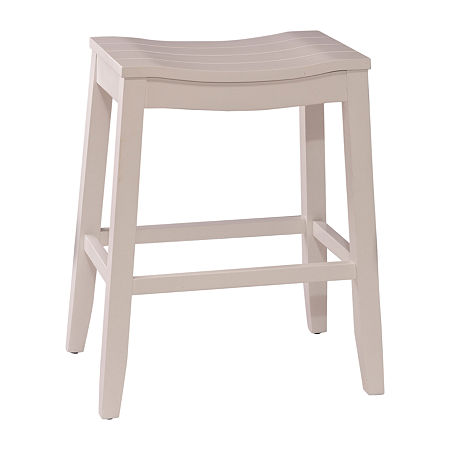 Fiddler Backless Stool, One Size , White