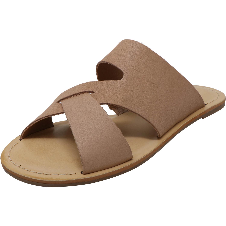 Lucky Brand Women's Leelan Fridays Stone Leather Sandal - 6.5M