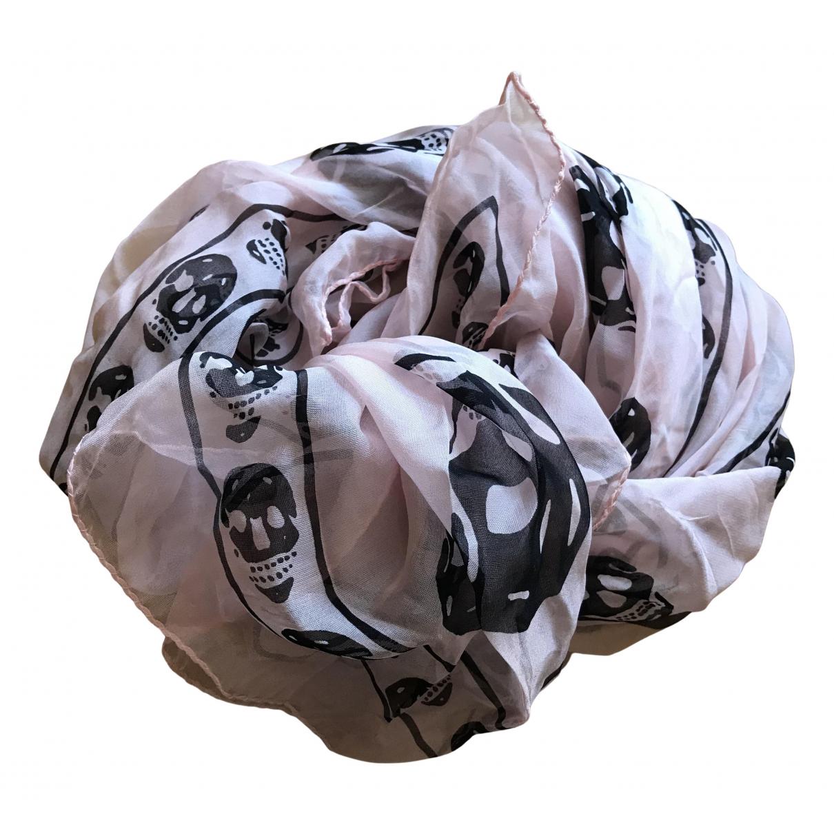 Alexander Mcqueen N Pink Silk scarf for Women N