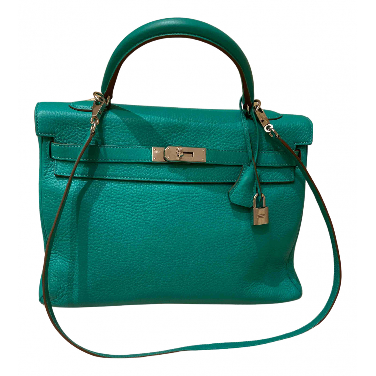 Hermès Birkin 35 Green Leather handbag for Women \N