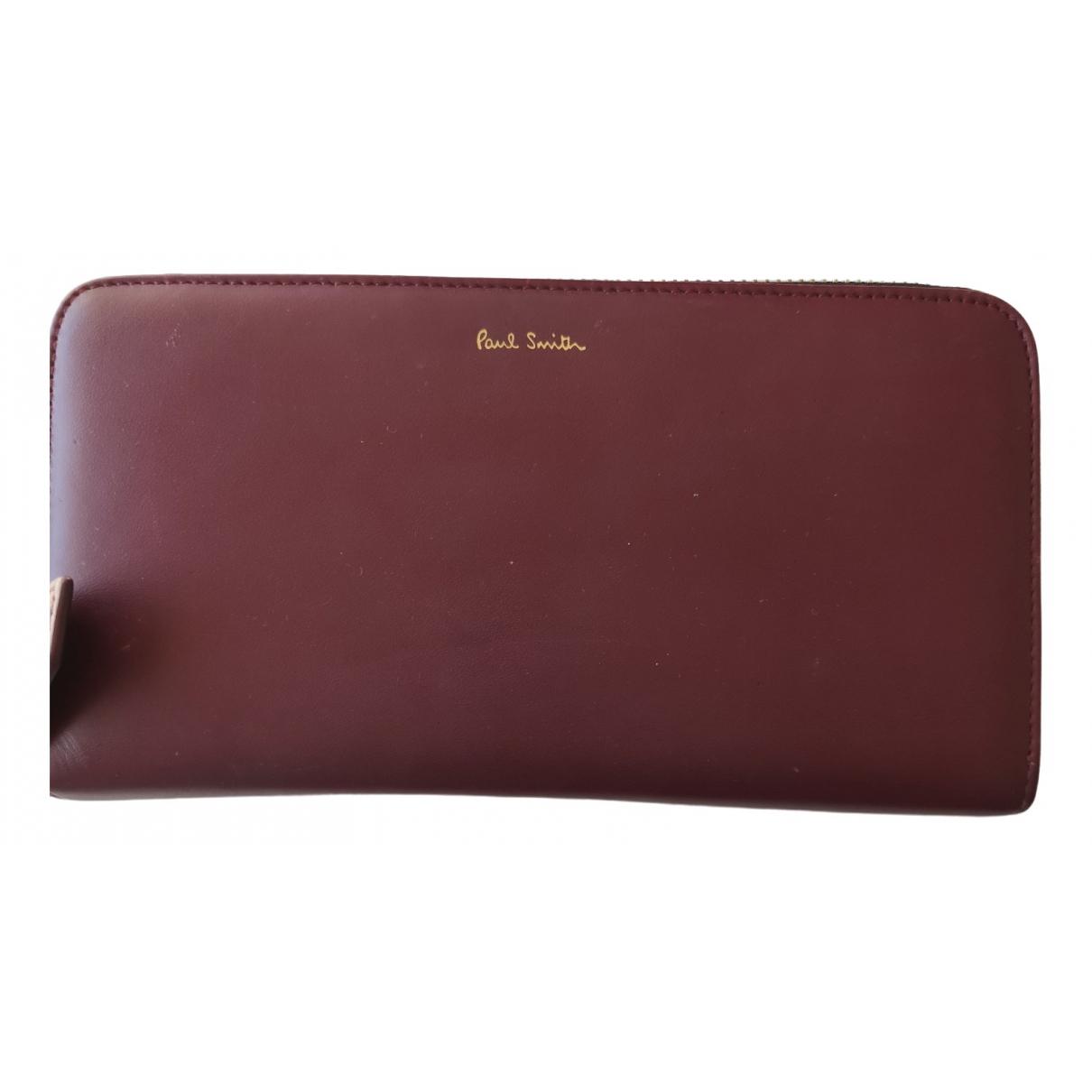 Paul Smith - Portefeuille   pour femme en cuir - bordeaux
