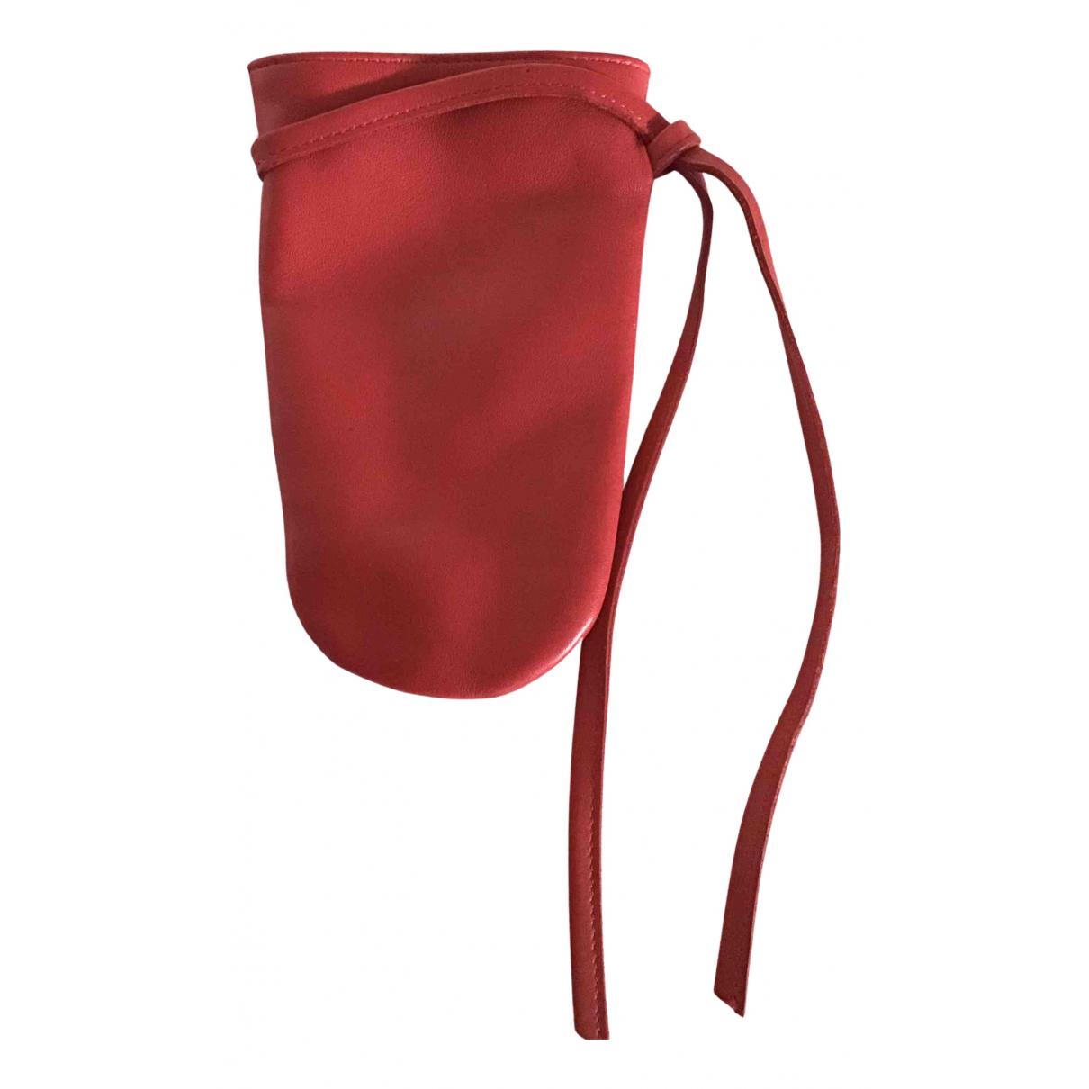 Longchamp - Petite maroquinerie   pour femme en cuir - rouge