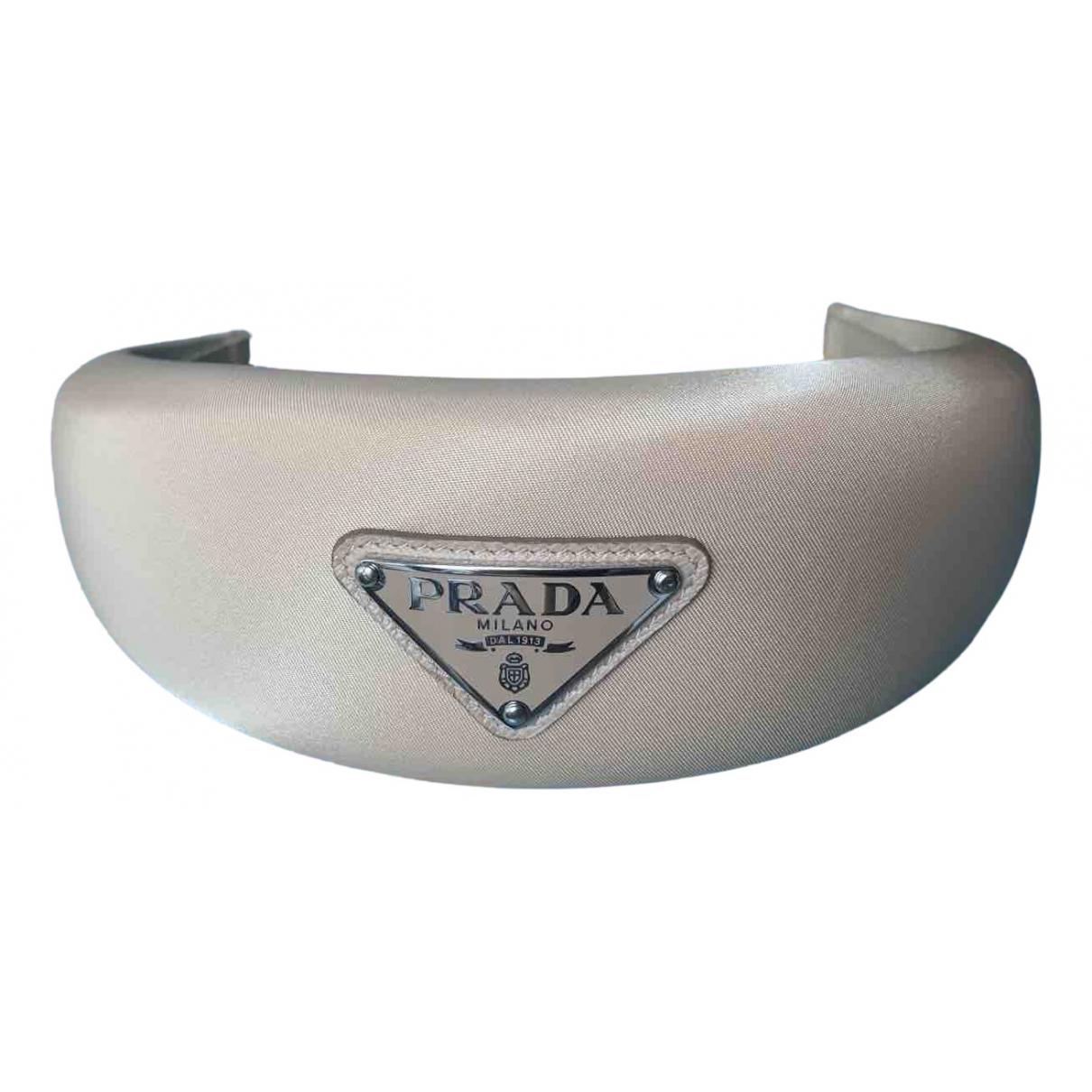 Prada \N Beige Cloth Hair accessories for Women M International