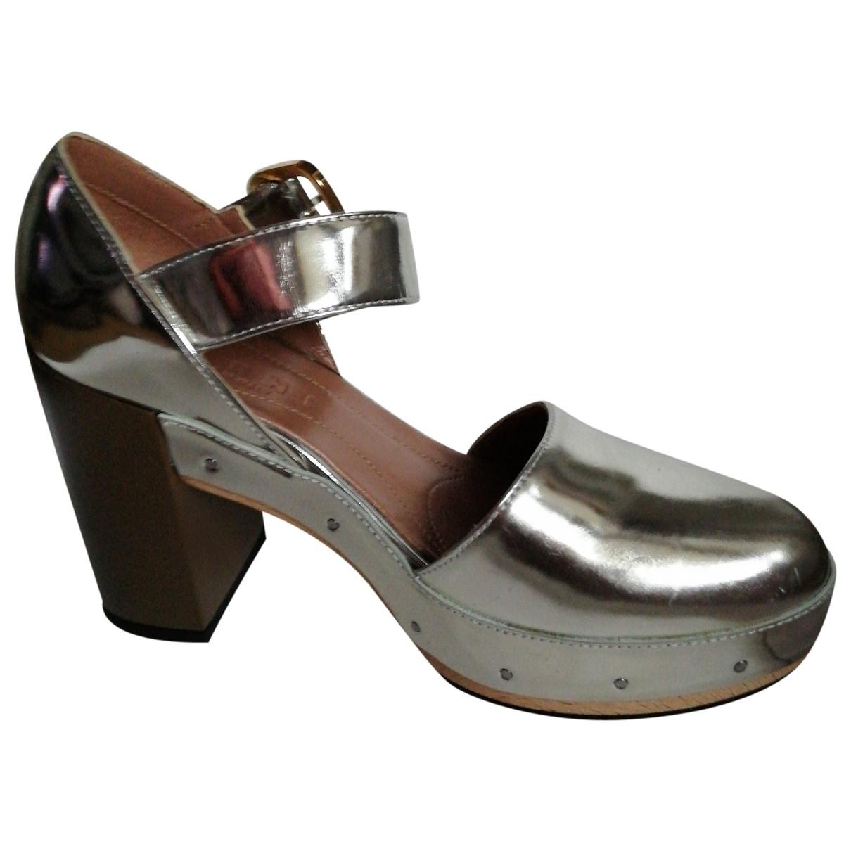 Marni \N Sandalen in  Metallic Leder