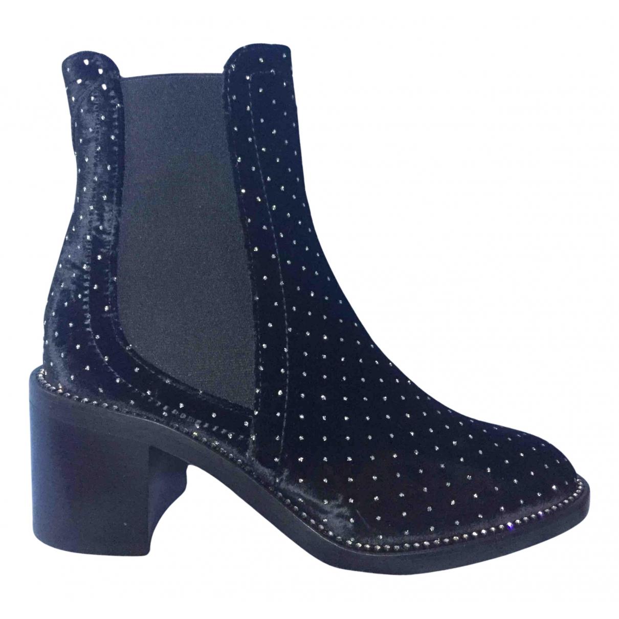 Jimmy Choo \N Black Velvet Ankle boots for Women 36.5 EU
