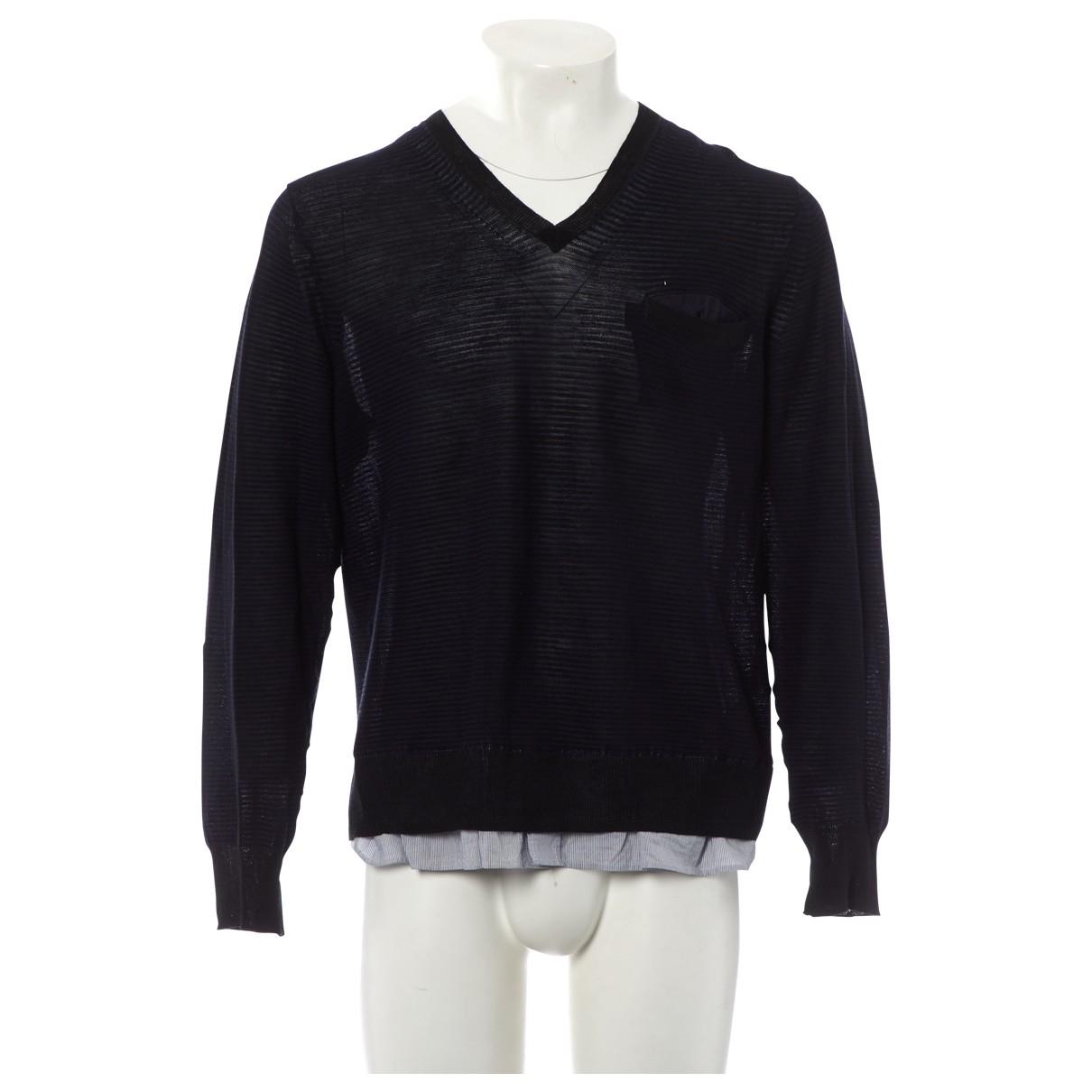 Sacai \N Pullover.Westen.Sweatshirts  in  Schwarz Leinen
