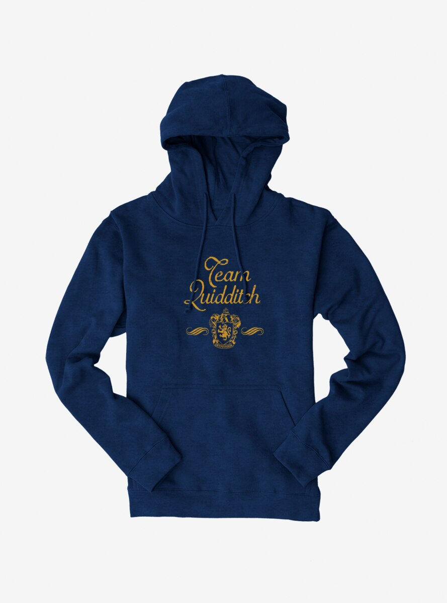 Harry Potter Team Quidditch Yellow Script Hoodie