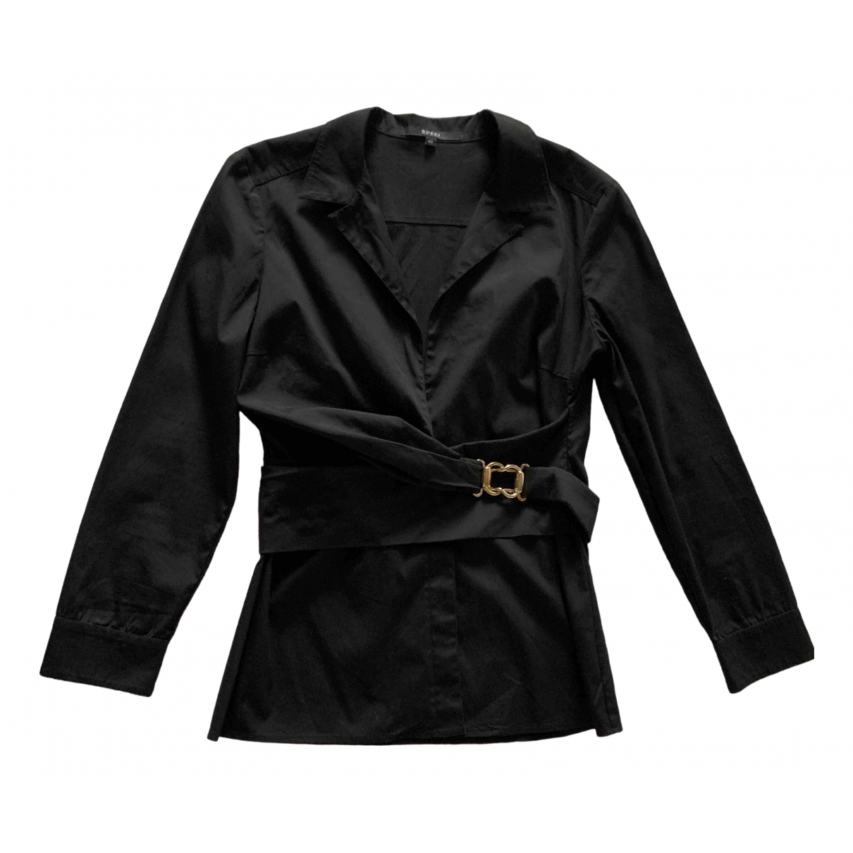 Gucci \N Black Cotton  top for Women 40 IT