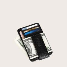Monedero minimalista de hombres con funda de tarjeta