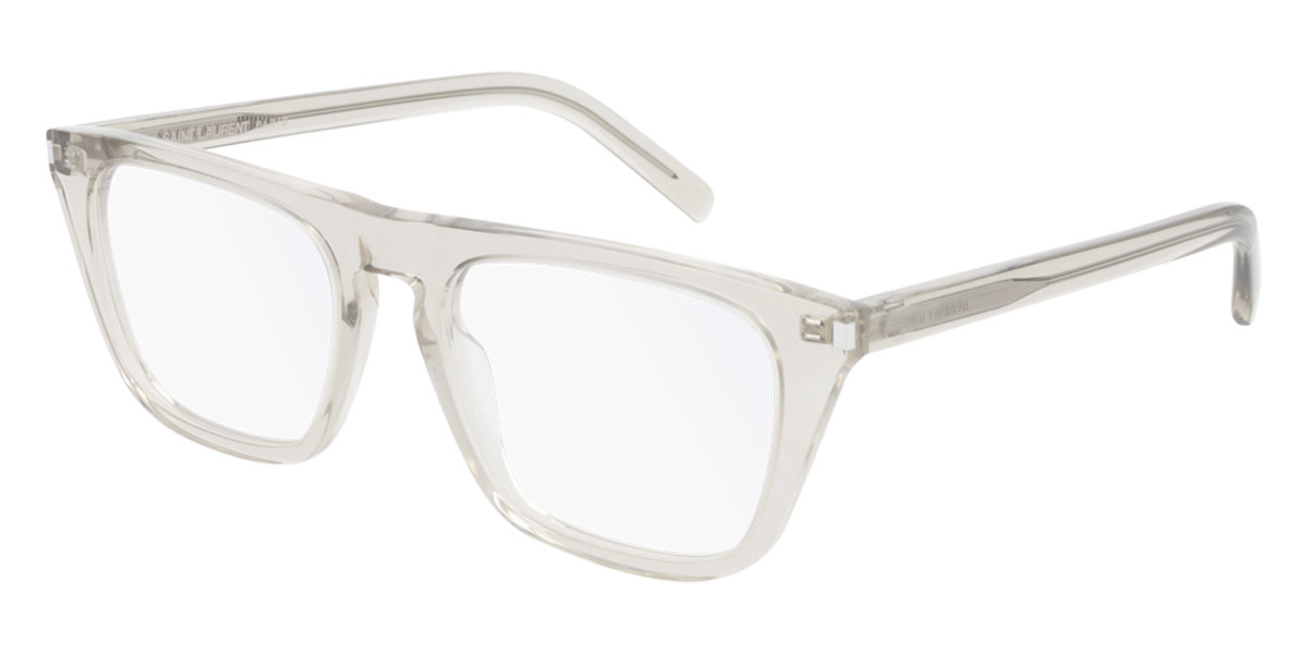 Saint Laurent SL 343 006 Men's Glasses  Size 53 - Free Lenses - HSA/FSA Insurance - Blue Light Block Available
