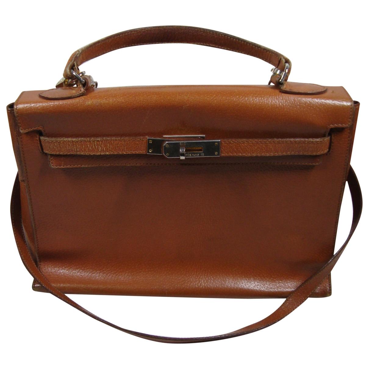 Hermes Kelly 32 Handtasche in  Kamel Leder