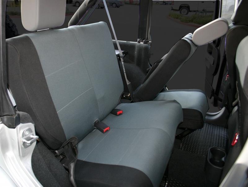 Rampage 5057921 Custom Fit Polycanvas Seat Cover, Rear Set Jeep Wrangler Rear 2007-2017