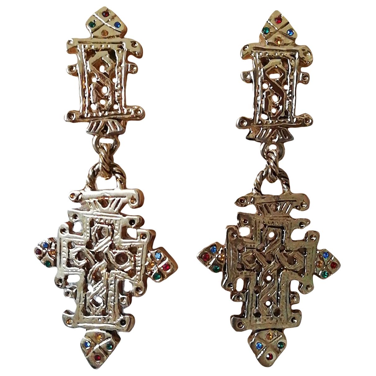 - Boucles doreilles Croix pour femme en metal - dore