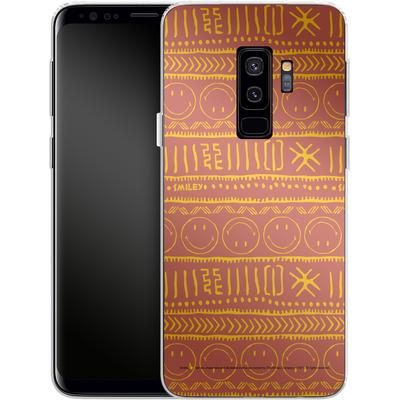 Samsung Galaxy S9 Plus Silikon Handyhuelle - Tribal Orange von Smiley®