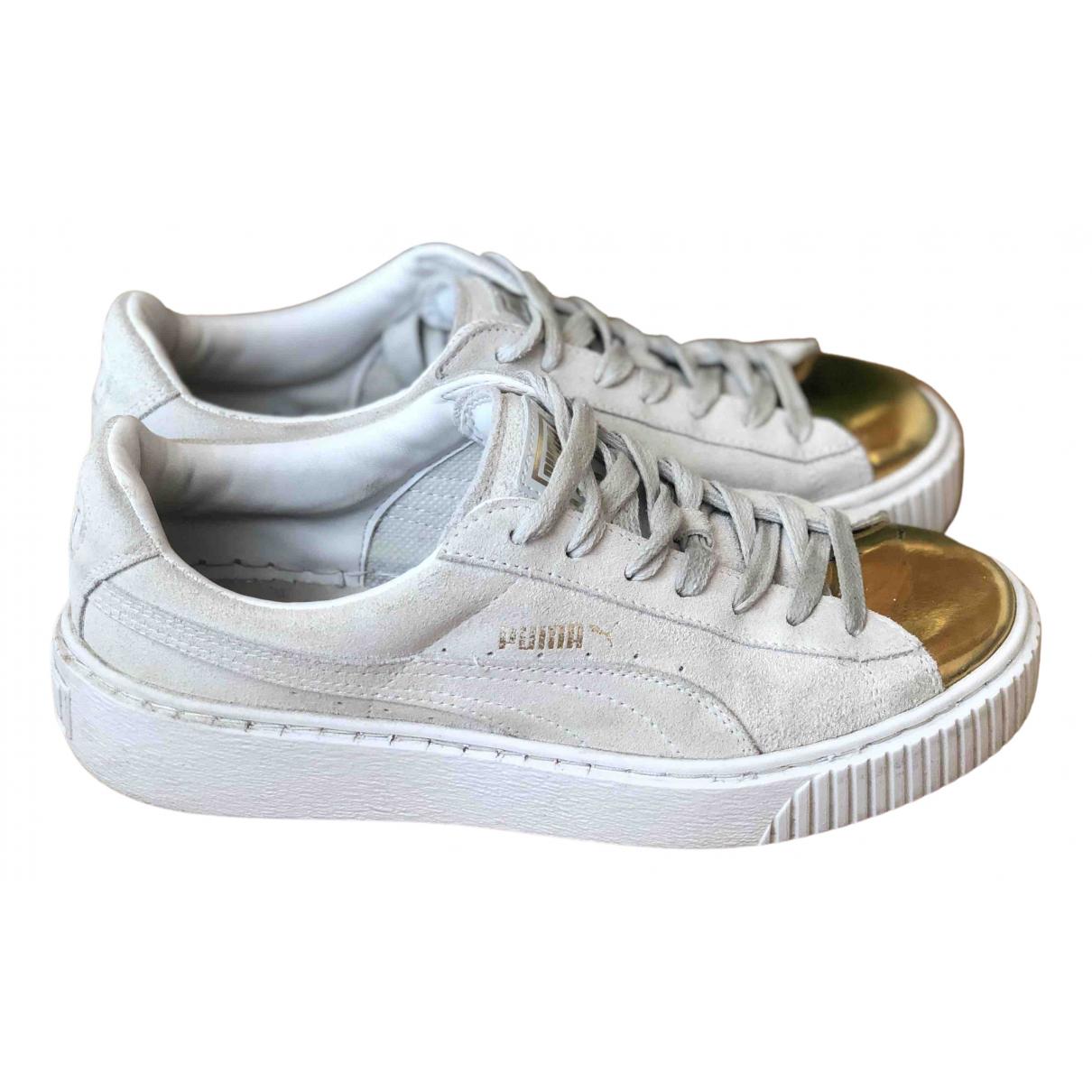 Puma \N Sneakers in  Beige Leder