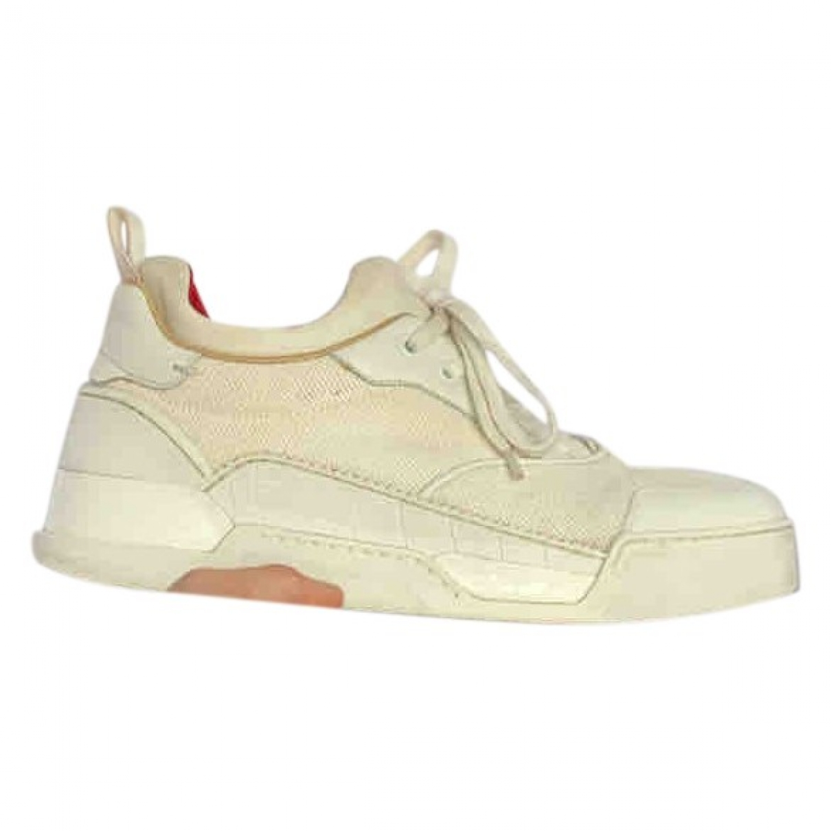 Christian Louboutin \N Beige Cloth Trainers for Men 41.5 EU