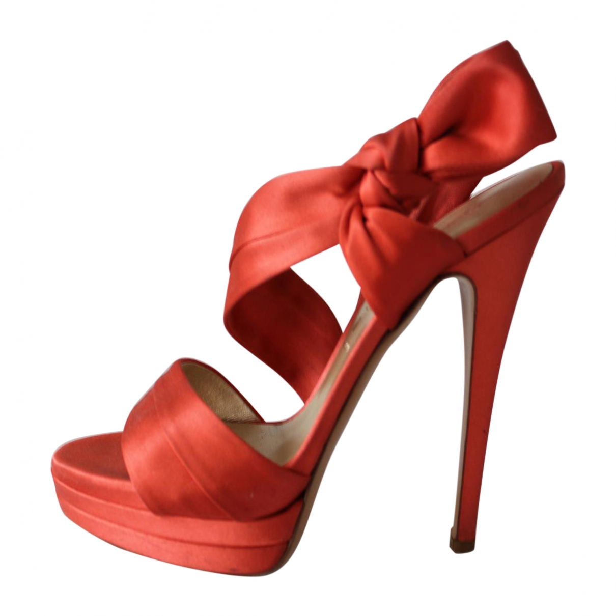 Casadei - Sandales   pour femme en toile - rouge