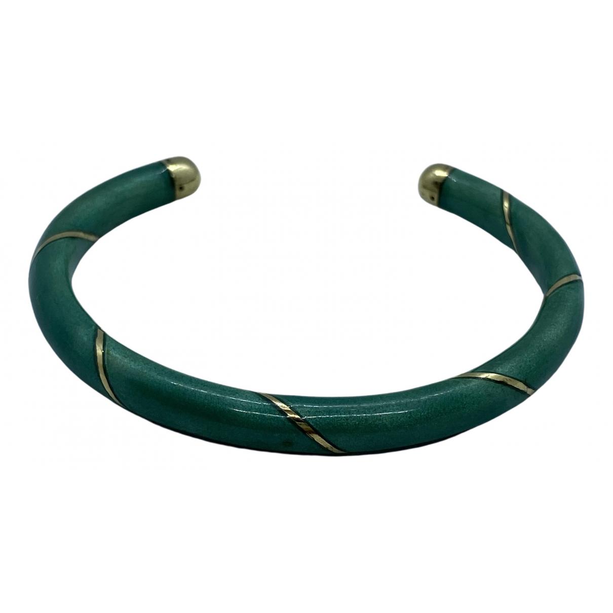 - Bracelet Jonc pour femme en or jaune - vert