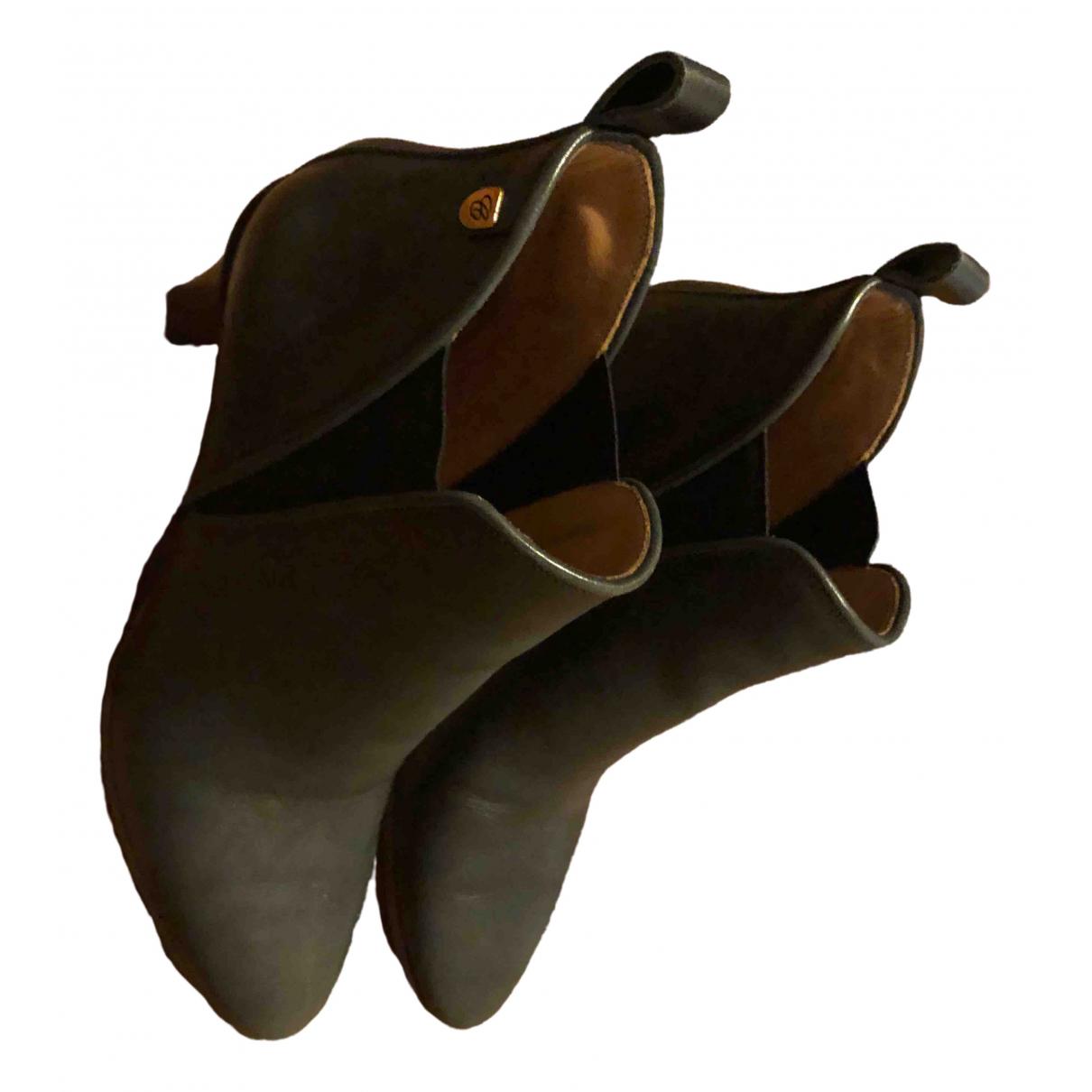 Chloe - Boots   pour femme en cuir - gris