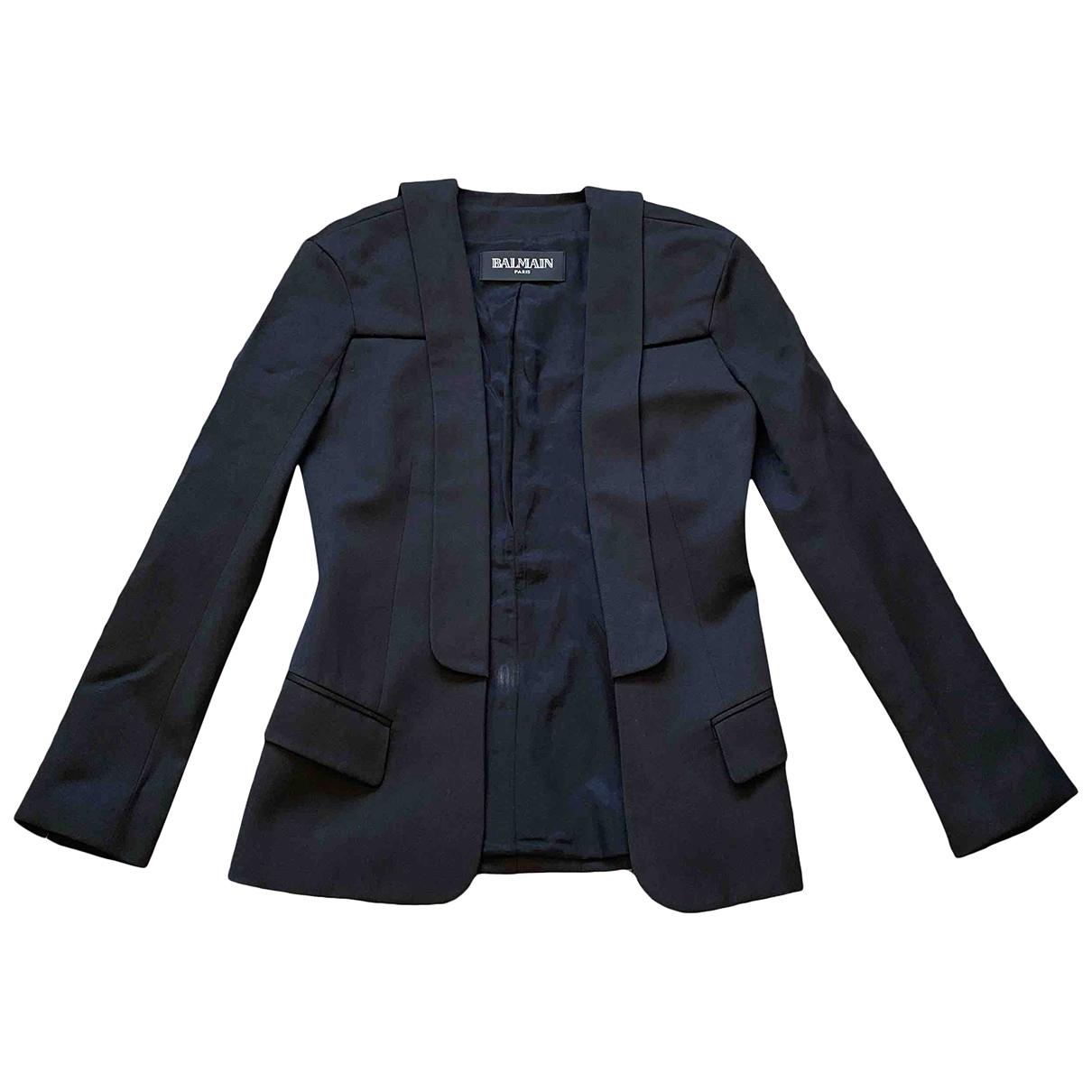 Balmain - Veste   pour femme en laine - noir