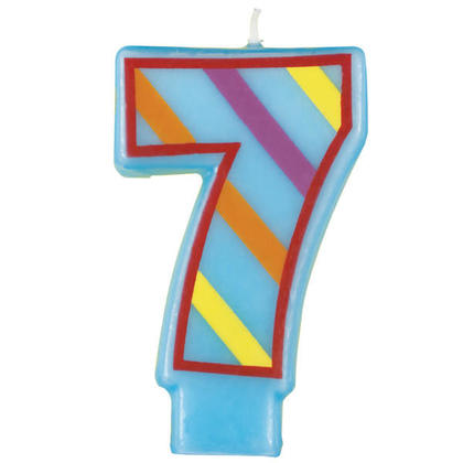 Birthday Candle Striped Number