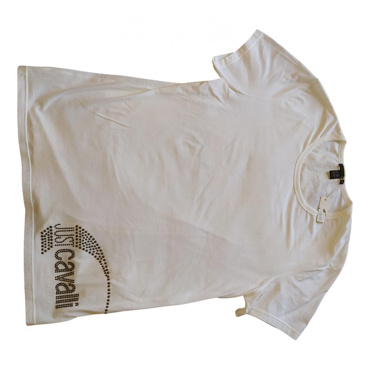 Just Cavalli - Tee shirts   pour homme en coton - blanc