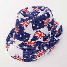 Kleinkind Fedora Hut mit Flagge Muster