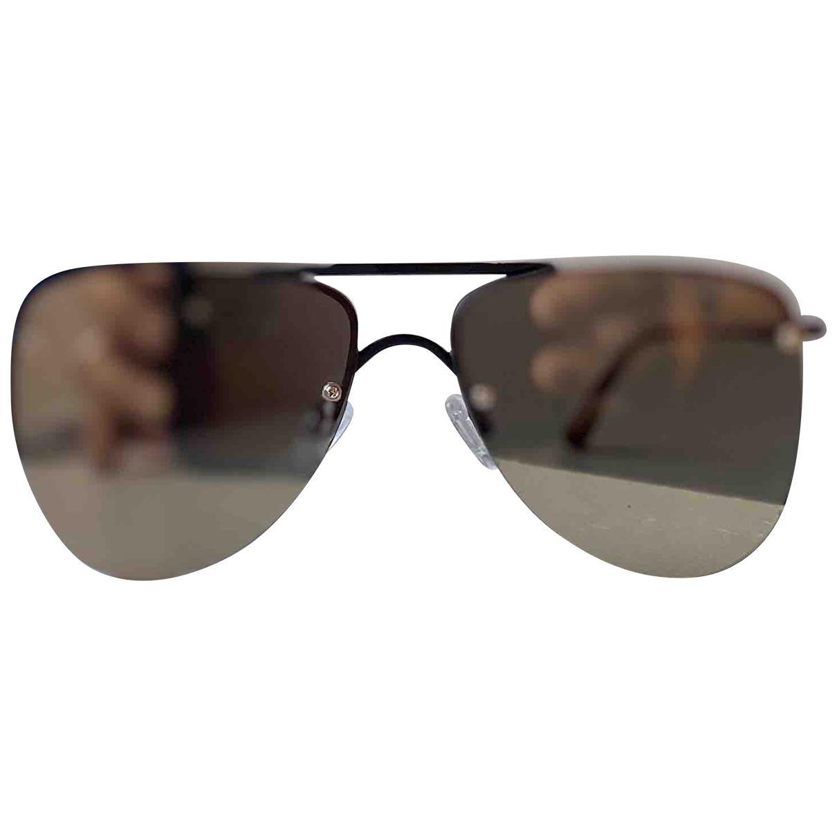 Le Specs \N Sonnenbrillen in  Beige Metall