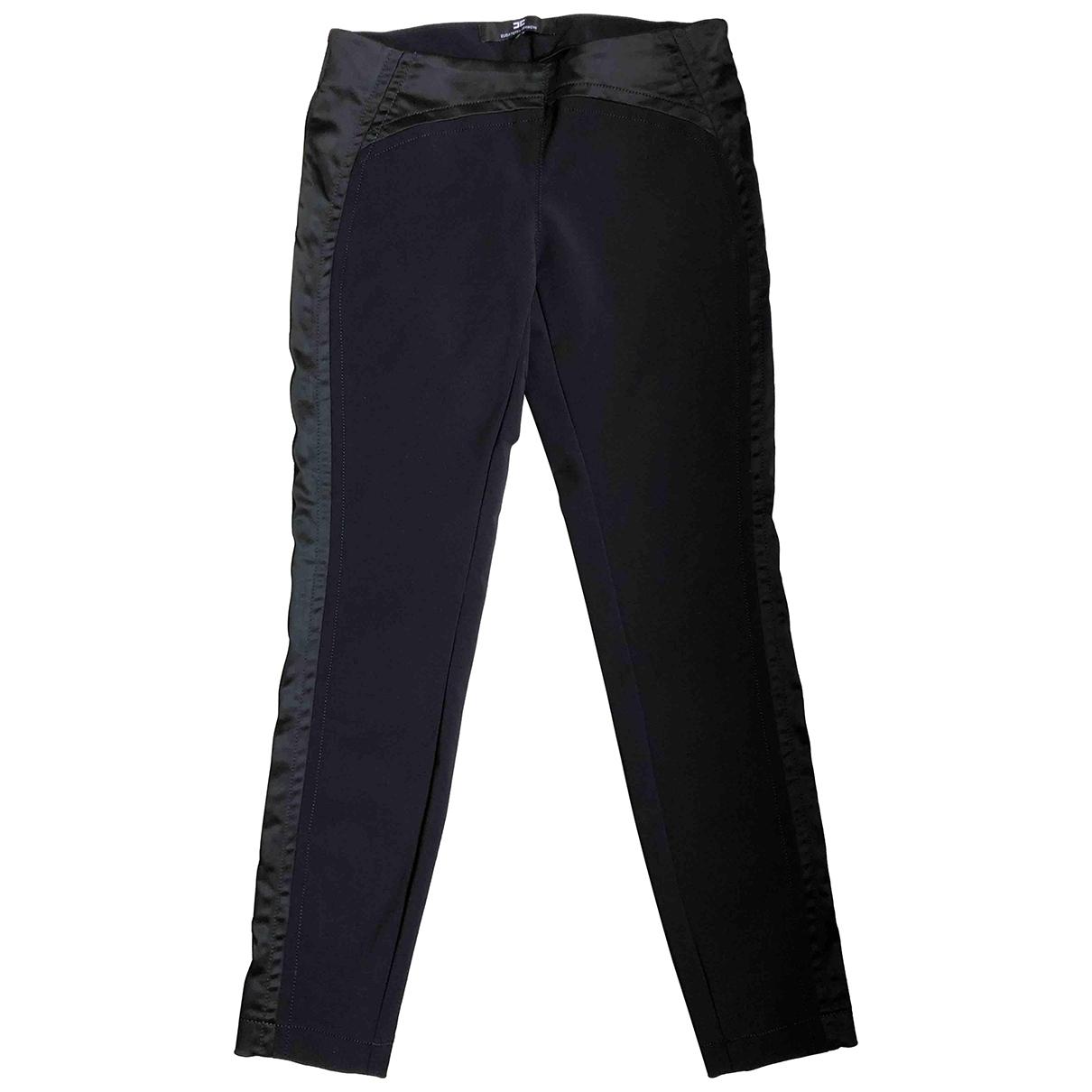 Elisabetta Franchi \N Black Trousers for Women 42 IT