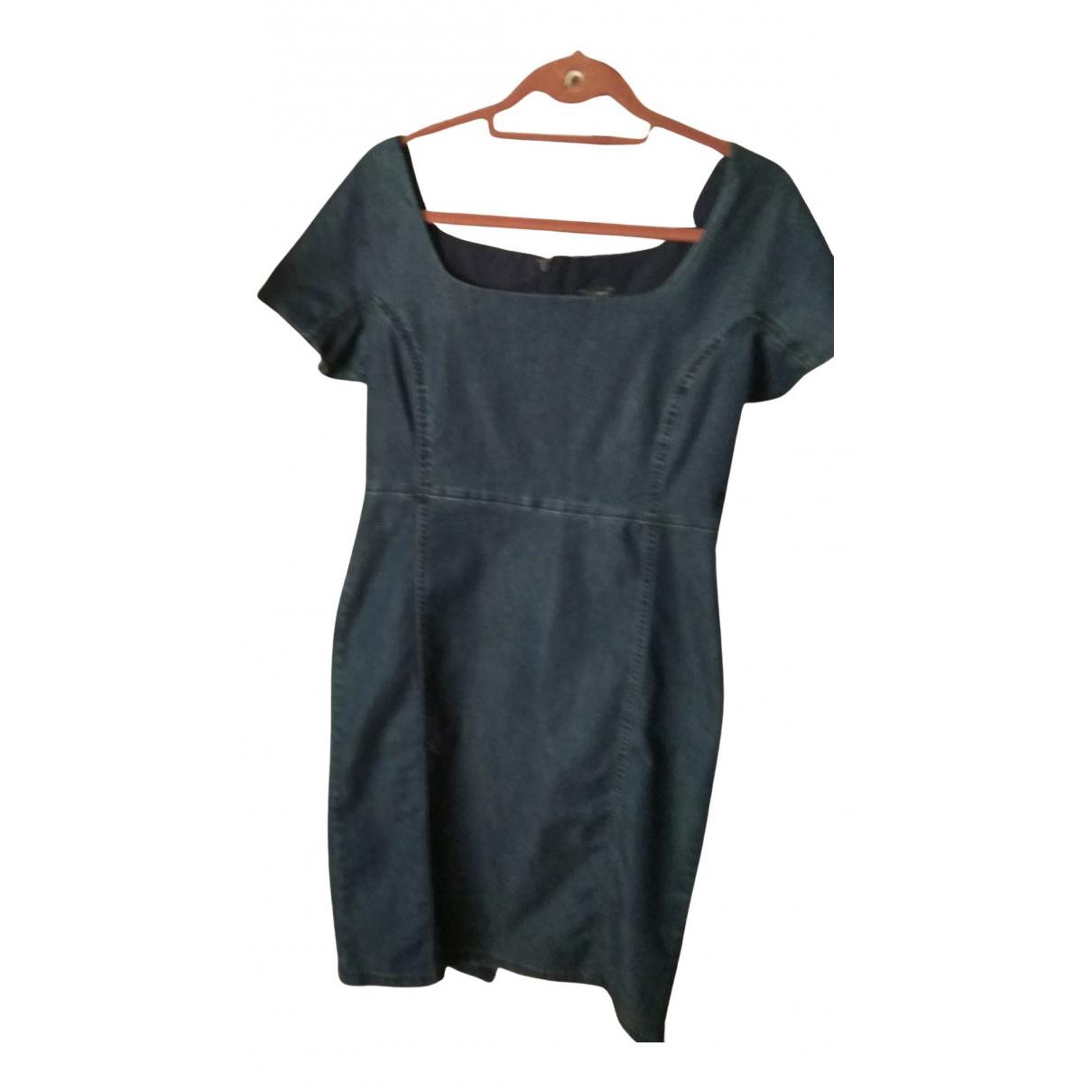 Armani Jeans \N Kleid in  Blau Baumwolle