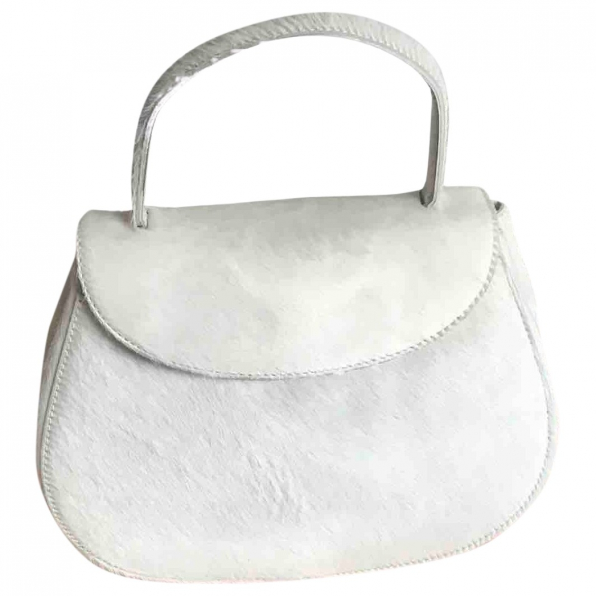 Prada \N White Pony-style calfskin handbag for Women \N