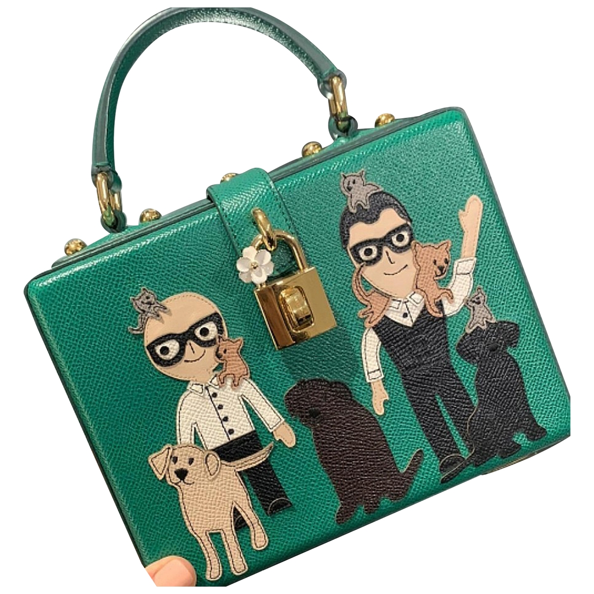 Dolce & Gabbana - Sac a main   pour femme en cuir - vert