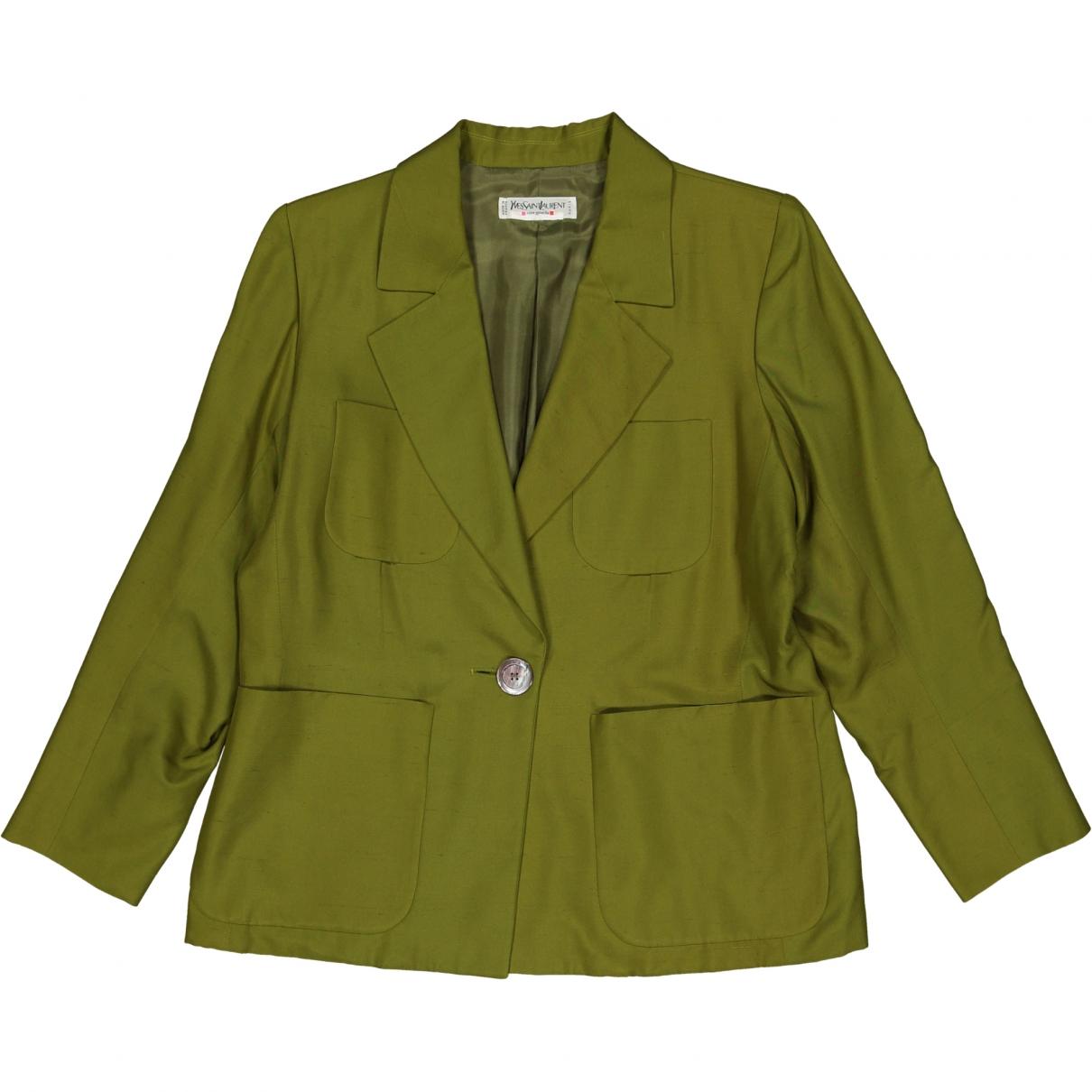 Yves Saint Laurent \N Green Silk jacket for Women L International