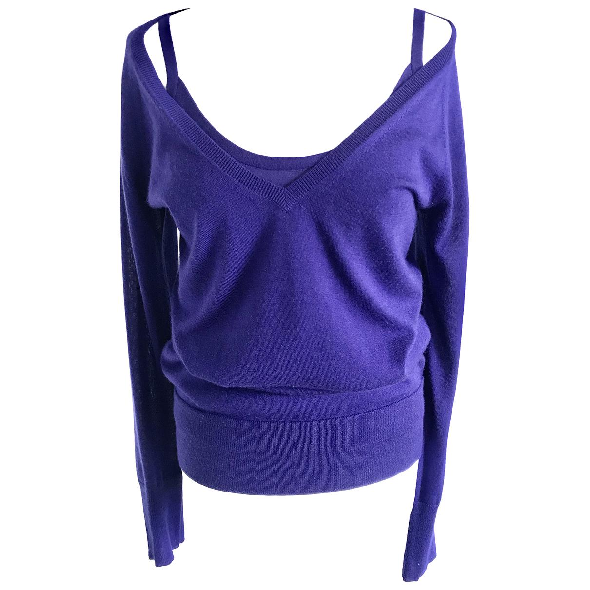 Donna Karan N Blue Cashmere Knitwear for Women M International