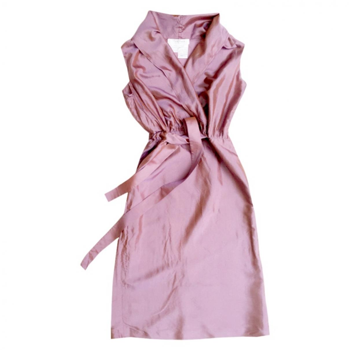 Max Mara - Robe   pour femme en soie - violet