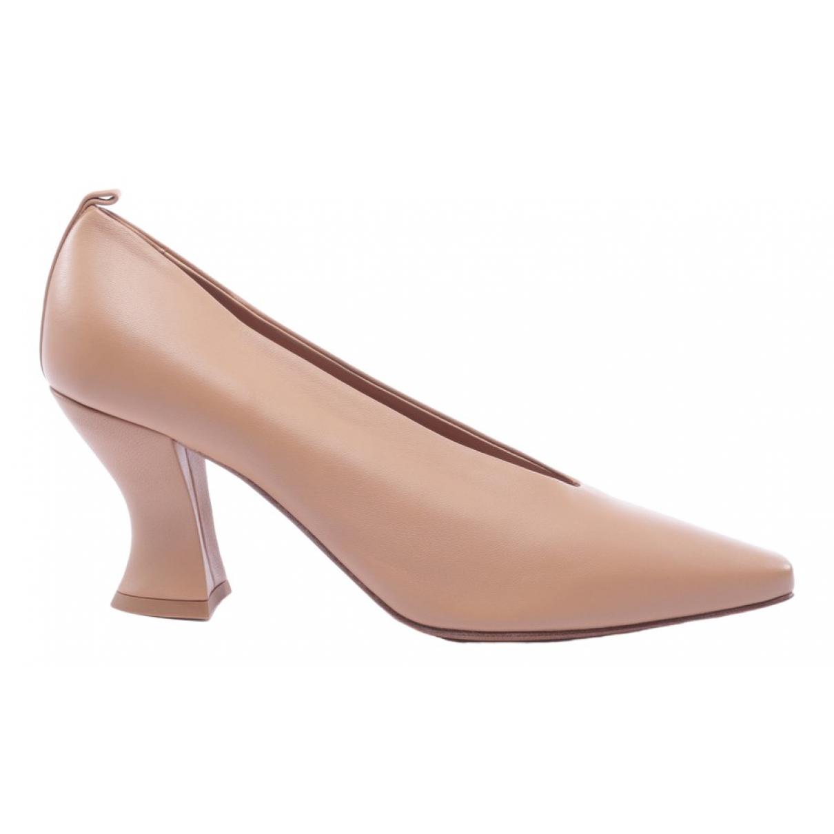 Bottega Veneta \N Beige Leather Heels for Women 39 EU