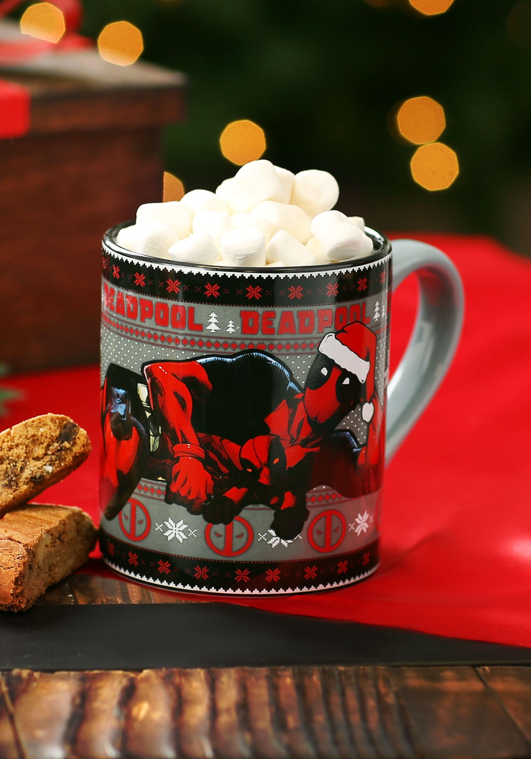 14oz Deadpool Holiday Lounge Ceramic Mug