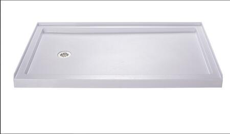 DLT-1136601 Slimline 36 In. D X 60 In. W X 2 3/4 In. H Left Drain Single Threshold Shower Base In