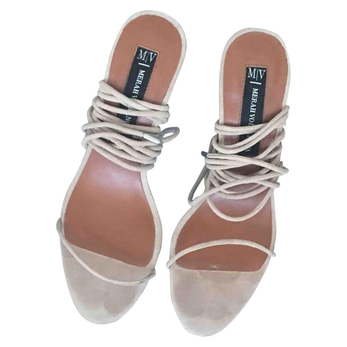 Non Signé / Unsigned \N Beige Suede Sandals for Women 37 EU