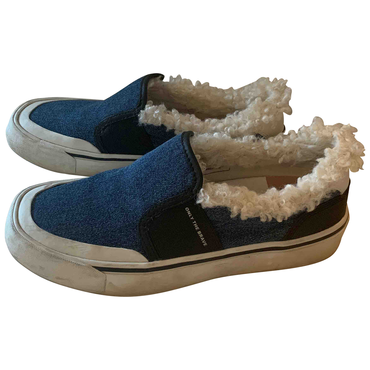 Diesel N Blue Cloth Flats for Women 39 EU