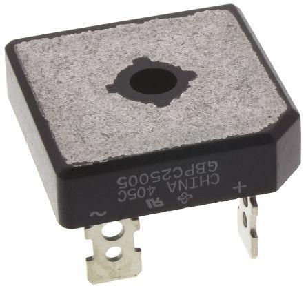 Vishay GBPC25005-E4/51, Bridge Rectifier, 25A 50V, 4-Pin GBPC