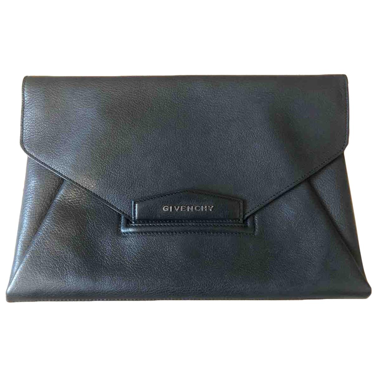 Givenchy Antigona Black Leather Clutch bag for Women \N