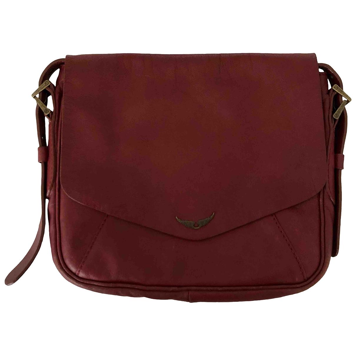 Zadig & Voltaire \N Burgundy Leather handbag for Women \N
