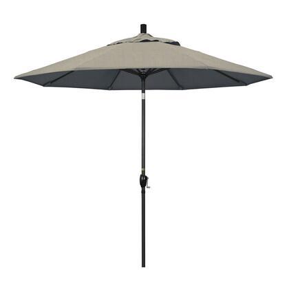 GSPT908302-48032 9 Pacific Trail Series Patio Umbrella With Stone Black Aluminum Pole Aluminum Ribs Push Button Tilt Crank Lift With Sunbrella 1A