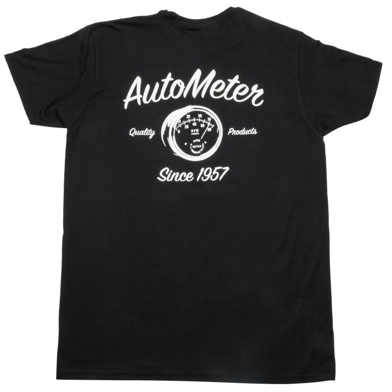 AutoMeter T-SHIRT; ADULT MEDIUM; BLACK; VINTAGE