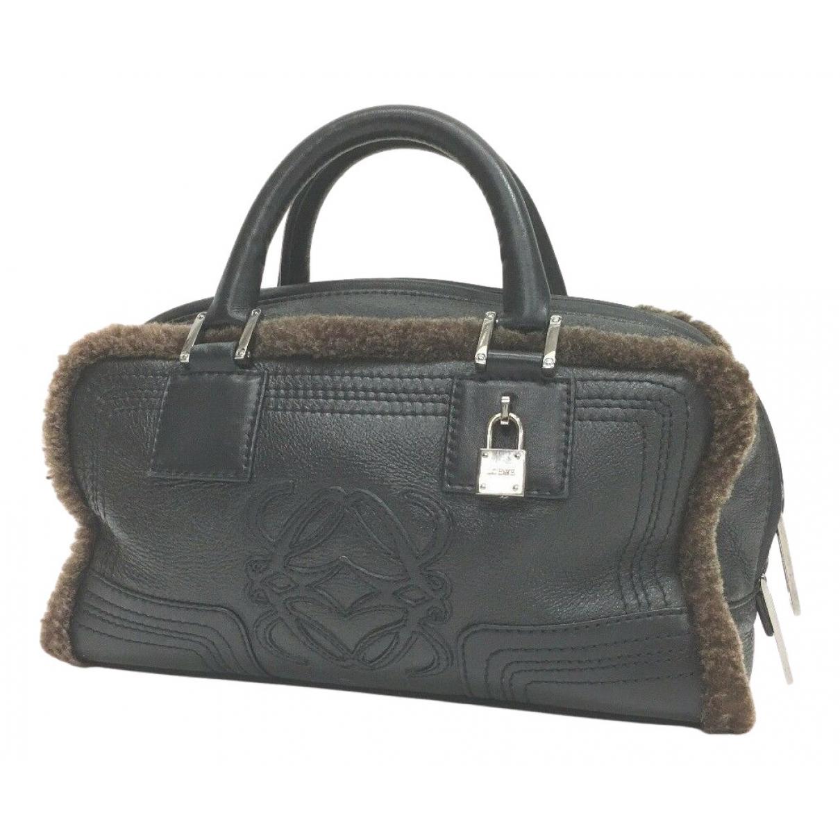 Loewe Amazona Black Leather handbag for Women N