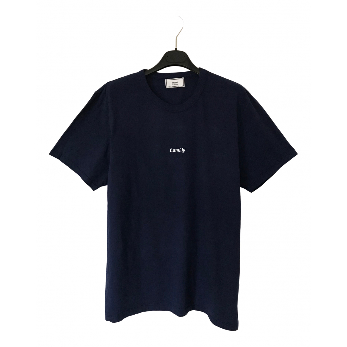 Ami \N Navy Cotton T-shirts for Men XL International