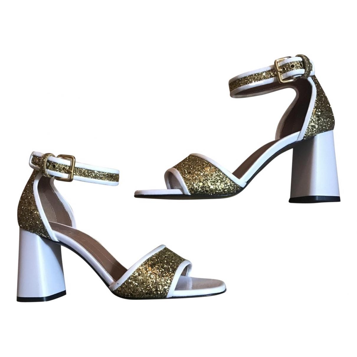 Marni - Sandales   pour femme en cuir - multicolore