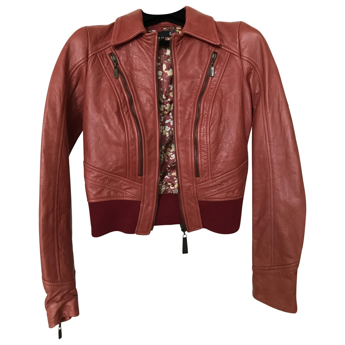 Just Cavalli \N Red Leather jacket for Women 40 IT