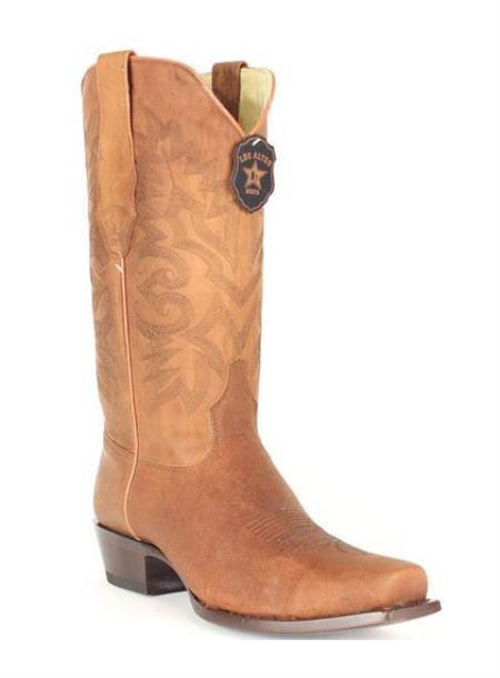 Mens Los Altos Mad Dog Honey 7 Genuine Premium Leather Cowboy Boots